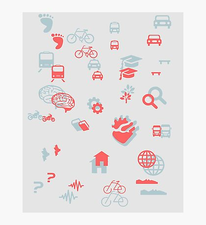Urban mobility icons illustration Photographic Print