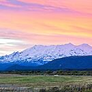 Mount Ruapehu at sunset by Melissa Thorburn