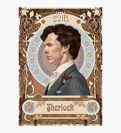Sherlock Art Nouveau Photographic Print