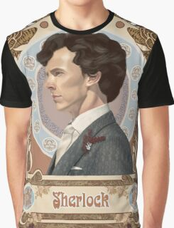 Sherlock Art Nouveau Graphic T-Shirt