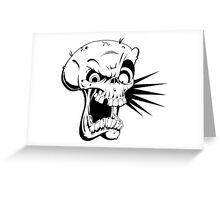 Psycho skull Greeting Card