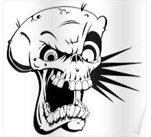 Psycho skull Poster