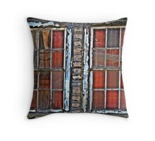 Airmen's Bunker Windows WWII Throw Pillow