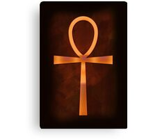 Ankh of the Glowing Sands Canvas Print