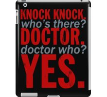 Doctor Who Typograhy iPad Case/Skin