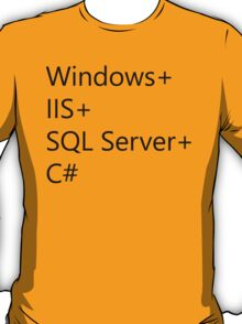 WISC - Windows IIS SQL Server C# T-Shirt