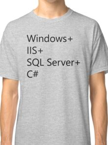 WISC - Windows IIS SQL Server C# Classic T-Shirt