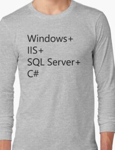 WISC - Windows IIS SQL Server C# Long Sleeve T-Shirt