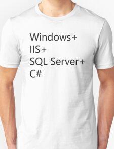 WISC - Windows IIS SQL Server C# T-Shirt