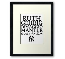 Costanza - Yankees Framed Print