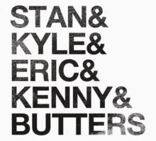 Stan & Kyle & Eric & Kenny & Butters (Vintage) by Surpryse