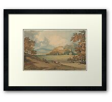 J. M. W. TurnerView of Dunster Castle from the Northeast Framed Print