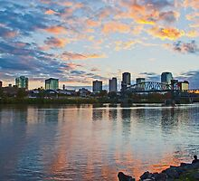 Little Rock, Arkansas at Sunset by Lisa G. Putman