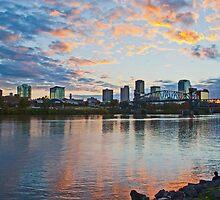 Little Rock, Arkansas at Sunset by Lisa G. Putman