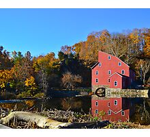 Red Mill November Morning Photographic Print