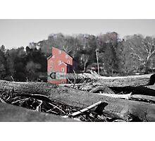 Red Mill Highlighted Photographic Print