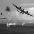 Beaufighters attacking E-boats black and white version by Gary Eason + Flight Artworks