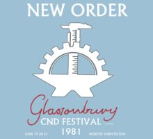 New Order Glastonbury CND Festival 1981 Shirt by Shaina Karasik