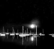 Morrow Bay, CA at night by Light Right Photos