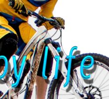 Riding is fun. Enjoy life with a bicycle  Sticker