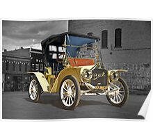 1910 Buick Roadster in Old Town Poster