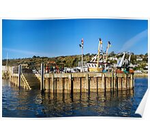 Entering The Harbour At Lyme Regis Poster