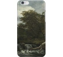 Jacob Isaacksz. van Ruisdael  WATERFALL IN A HILLY WOODED LANDSCAPE 2 iPhone Case/Skin