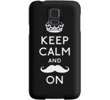 Keep Calm and Moustache On (White) Samsung Galaxy Case/Skin
