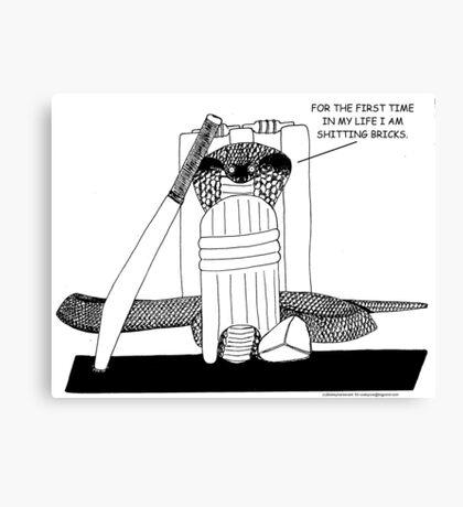 Scared Cobra Canvas Print