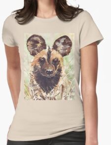 Afrika Wildehond (Lycaon pictus) Womens Fitted T-Shirt