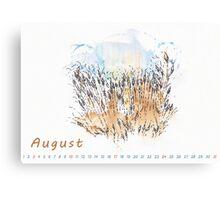 August) Canvas Print