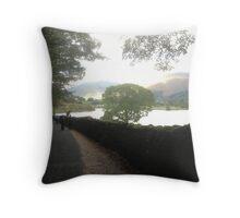 Grasmere Lake in Autumn Throw Pillow