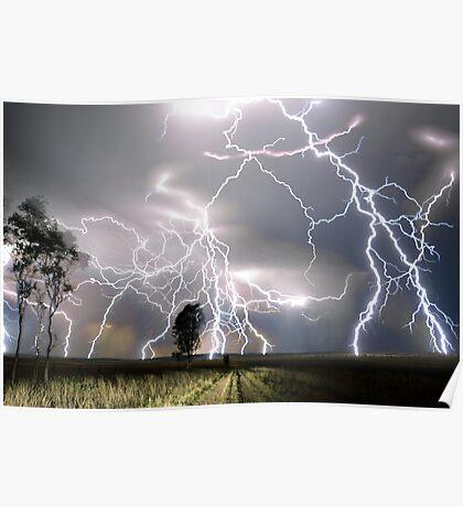 Clifton Lightning Storm 9/11/13 Poster
