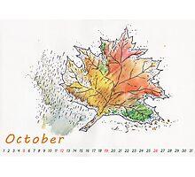 October) Photographic Print
