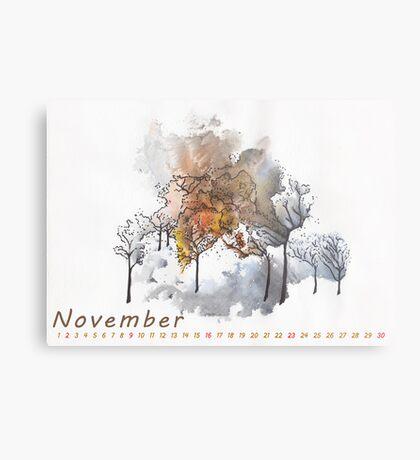 November) Metal Print