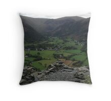 View from Castle Crag Throw Pillow