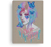 i cant sleep Canvas Print