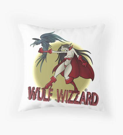 Wulf Wizzard Wizzardress Throw Pillow