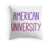 American University Throw Pillow