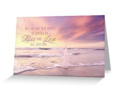 A Christmas Covered By Peace Greeting Card