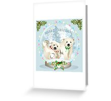 Snow globe bears Greeting Card