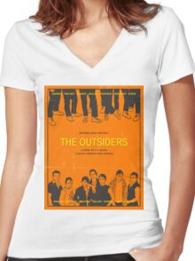 The Outsiders Orange Women's Fitted V-Neck T-Shirt
