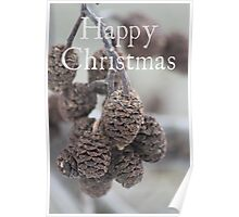 Pine Cone Christmas card Poster