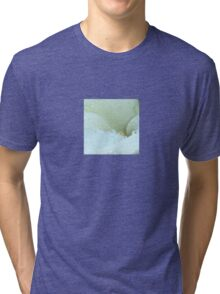 Abstract Angle Of A Calla Lily Flower With Dew And Aqua Tri-blend T-Shirt