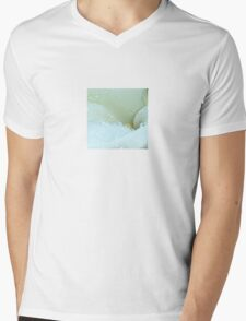 Abstract Angle Of A Calla Lily Flower With Dew And Aqua T-Shirt