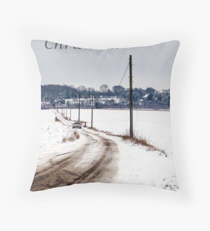 Driving home for christmas Throw Pillow