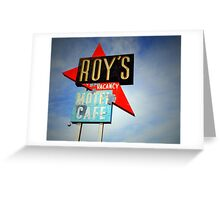 Roy's Motel, Amboy, CA Greeting Card