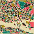 STOCKHOLM, SWEDEN MAP by JazzberryBlue