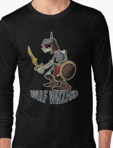 Wulf Wizzard Dark Skeleton Knight Long Sleeve T-Shirt
