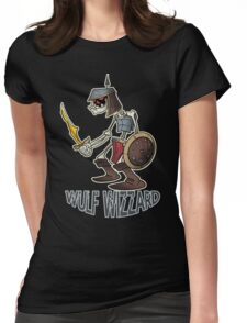 Wulf Wizzard Dark Skeleton Knight Womens Fitted T-Shirt